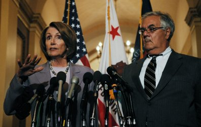Speaker Pelosi speaks on financial markets crisis on Capitol Hill in Washington