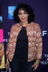 "Daphne Rubin Vega arrives for the premiere of ""F _ _ K""  at the Tribeca Film Festival in New York"