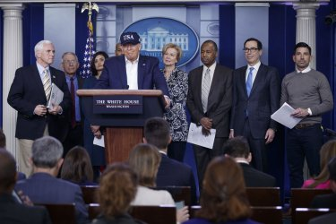 President Trump on the Coronavirus Pandemic at the White House