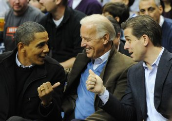 U.S. President Obama attends Georgetown vs Duke basketball game in Washington.