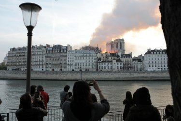 Paris Cathedral Fire