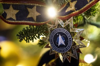 White House Holiday Decoration Preview in Washington, DC