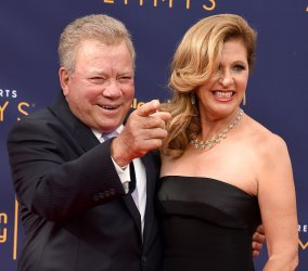 William Shatner and Elizabeth Shatner attend the Creative Arts Emmy Awards in Los Angeles