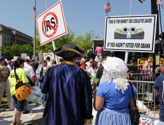Tea Party holds Tax Day protest in Washington