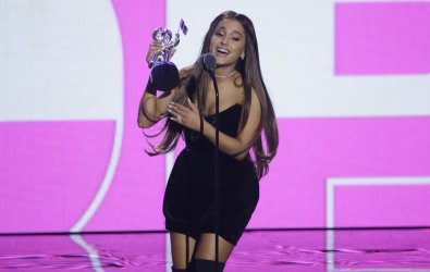 Ariana Grande during the MTV Video Music Awards in New York