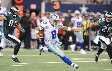 Dallas Cowboys and Philadelphia Eagles at Cowboys Stadium in Arlington, Texas