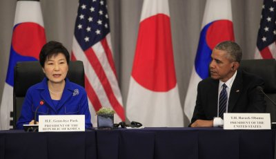 President Obama meets with the Korean President and Japan PM at Nuclear Security Summit
