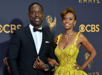 Sterling K. Brown and Ryan Michelle Bathe attend the 69th annual Primetime Emmy Awards in Los Angeles