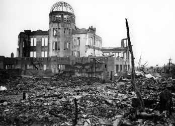 THE MUSEUM OF SCIENCE AND INDUSTRY FOLLOWING BOMBING OF HIROSHIMA