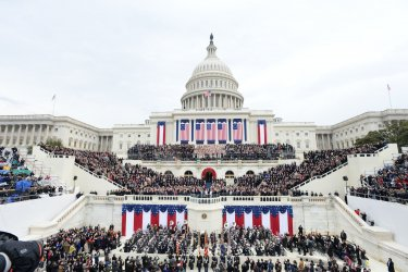 President Trump at Inauguration  in Washington, D. C.