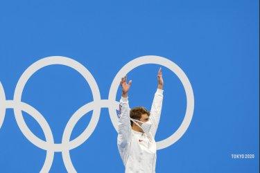 Robert Finke USA Gold Medal Winner at the Tokyo Olympics
