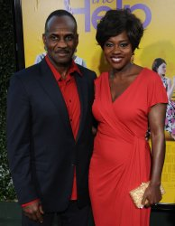 """Viola Davis and Julius Tennon attend the premiere of """"The Help"""" in Beverly Hills, California"""