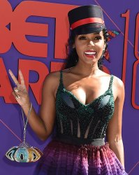 Janelle Monae attends the 18th annual BET Awards in Los Angeles