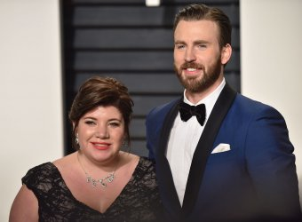 Chris Evans and Shanna Evans arrive for the Vanity Fair Oscar Party in Beverly Hills