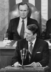 President Ronald Reagan Delivers State of the Union Address