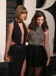 Taylor Swift and Lorde arrive at the Vanity Fair Oscar Party in Beverly Hills