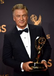 Alec Baldwin wins award at the 69th annual Primetime Emmy Awards in Los Angeles
