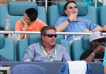 Dan Marino at the Miami Open Women's Finals in the Hard Rock Stadium in Miami Gardens, Florida