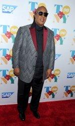 Stevie Wonder arrives at Tony Bennett's 90th birthday