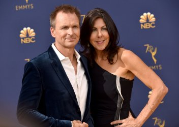 Phil Keoghan and Louise Keoghan attend the 70th annual Primetime Emmy Awards in Los Angeles