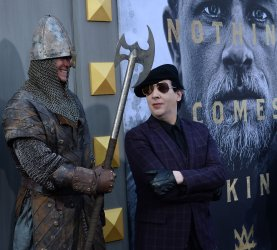 """Marilyn Manson attends the """"King Arthur: Legend of the Sword"""" premiere in Los Angeles"""