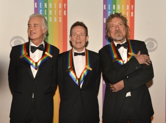 Members of Led Zeppelin arrive for Kennedy Center Honors Gala in Washington DC