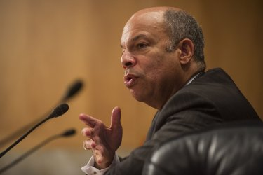 Jeh Johnson Testfies in his DHS Comfirmation Hearing in Washington, D.C.