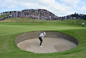 Rory Mcllroy at the Open Golf Championship at Royal St George's