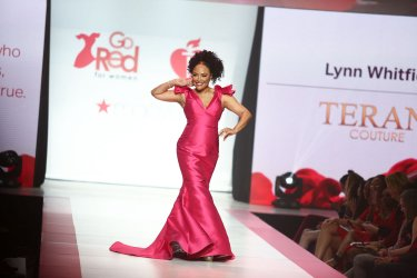Lynn Whitfield at American Heart Association's Go Red For Women Show