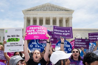 Abortion rights Demonstration at the Supreme Court
