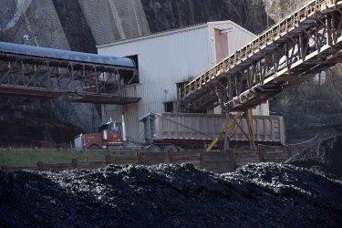 A Truck Loads Coal At A Mine In West Virginia
