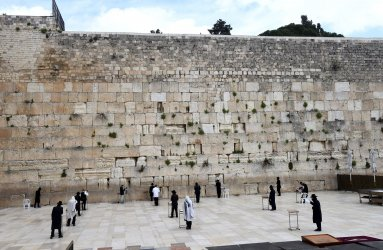Ultra-Orthodox Jews Pray At The Western Wall