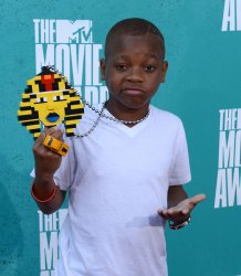Lil Niqo arrives at the 2012 MTV Movie Awards in Universal City, California