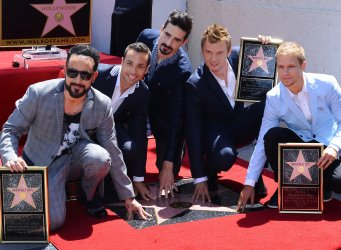 Backstreet Boys receive a star on the Hollywood Walk of Fame in Los Angeles