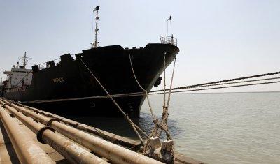 Industrial ships in Bandar Imam Khomeini port in Iran