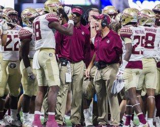 Florida State head coach Jimbo Fisher talks Auden Tate