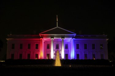 White House Illuminated for Olympics