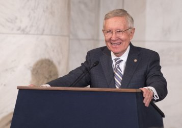 Harry Reid Leadership Portairt Unveiling on Capitol Hill