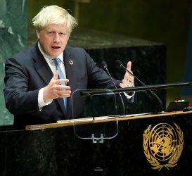 British Prime Minister Boris Johnson at UN GA