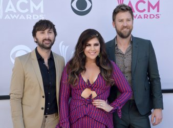 Dave Haywood, Hillary Scott, and Charles Kelley attend the 52nd annual Academy of Country Music Awards in Las Vegas