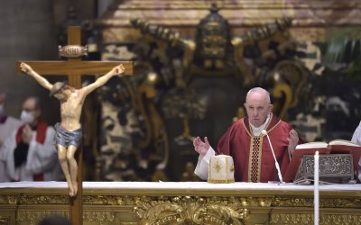 Pope Francis Leads the Good Friday Services at the Vatican
