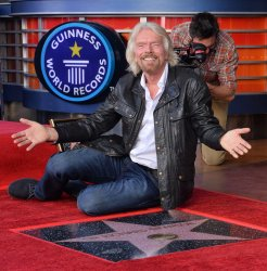 Sir Richard Branson is honored with a star on the Hollywood Walk of Fame in Los Angeles.