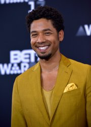 Jussie Smollett appears backstage at the BET Awards in Los Angeles