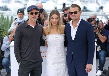 Brad Pitt, Margot Robbie and Leonardo DiCaprio attend the Cannes Film Festival