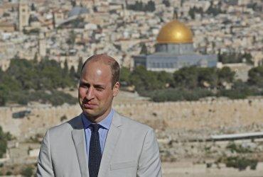 Britain's Prince William visits Jerusalem's Mount of Olives