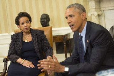 President Obama meets with Attorney General Loretta Lynch in Washington