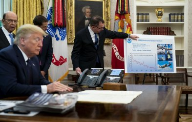 Trump Receives Hurricane Briefing at the White House