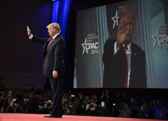 President Trump addresses CPAC annual conference in suburban Washington DC