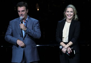 Kate Hudson and Chris Noth speak at the Rainforest Fund's 21st Birthday at Carnegie Hall in New York