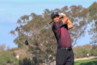 Tiger Woods plays in the Farmers Insurance Open in San Diego